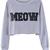 PU MEOW Short Length Grey Sweatshirt | Pariscoming