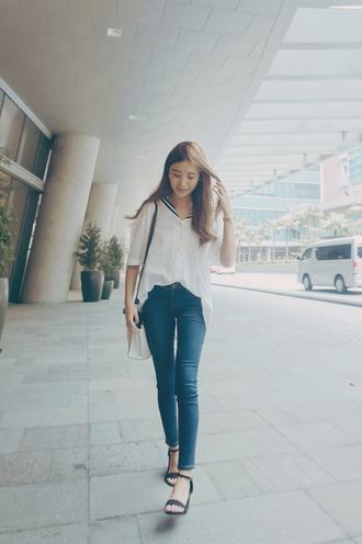 tricia gosingtian blogger top jeans shoes bag