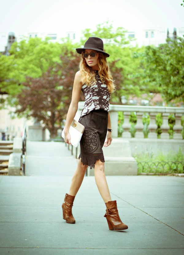 the marcy stop tank top skirt hat sunglasses jewels bag shoes