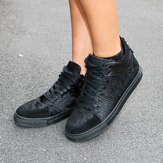 shoes maniere de voir trainers sneakers snake suede mdv black sneakers texture