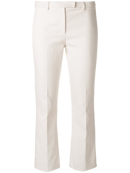 'S Max Mara cropped women spandex nude cotton pants