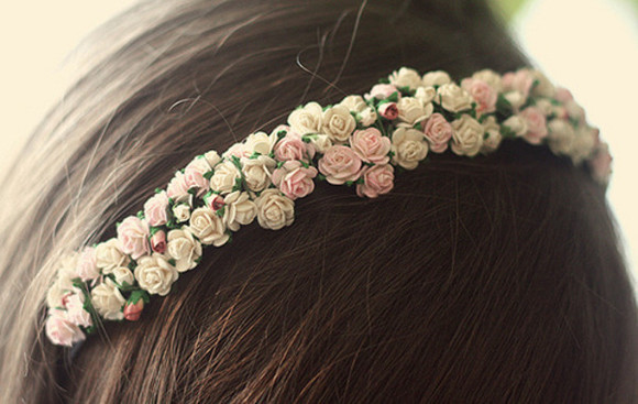 headband jewels flowers roses