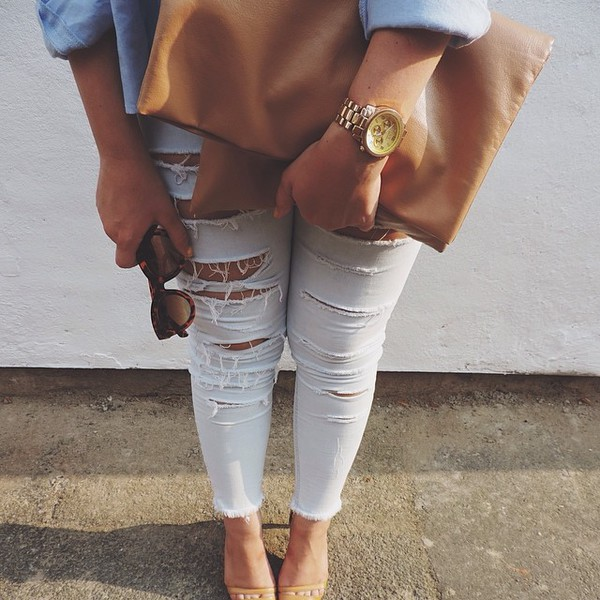 jeans custom custom made customized sunglasses bag watch shoes high heels cool girl style summer outfits trendy ootd clothes