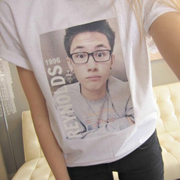 t-shirt vine sweate glasses style carter reynolds youtuber asian