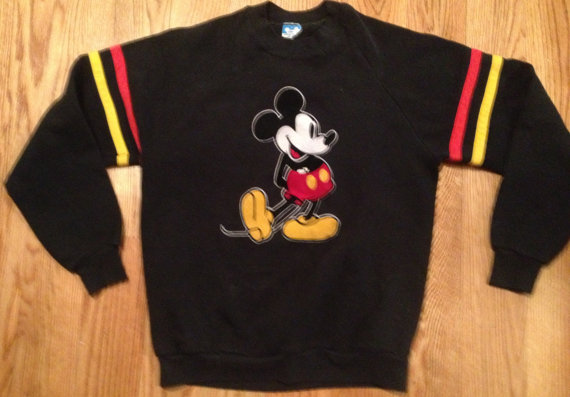 Vintage mickey mouse 1980's disney sweatshirt large by njvintage