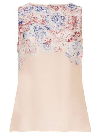 All About Rose Pink Button Back Top - Dorothy Perkins