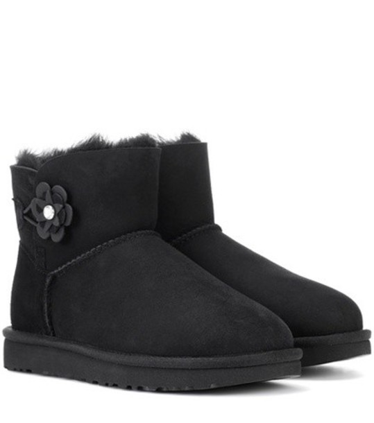 UGG Australia suede ankle boots mini ankle boots suede black shoes