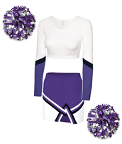 skirt,costume,cheerleading,halloween costume,sexy halloween costume,pom poms,matching set,gift ideas,top,jewels