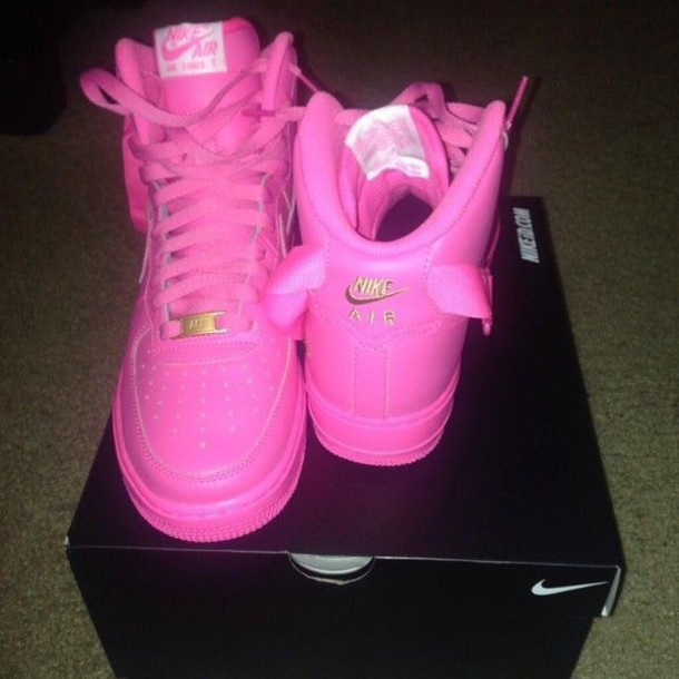 shoes pink nike high tops