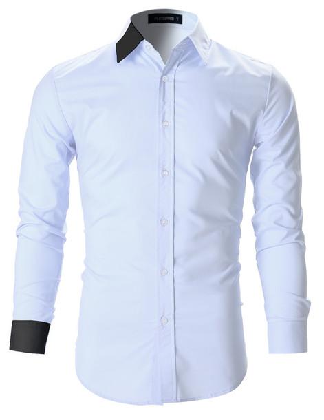 Shirt white white shirt business casual business shirt for Business casual white shirt
