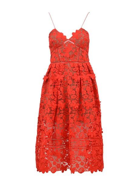 self-portrait dress red