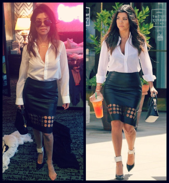 skirt kourtney kardashian