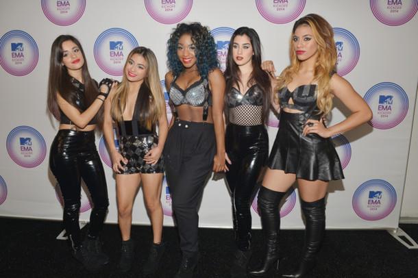 pants Fifth Harmony black pvc mtv ema awards mtv ema