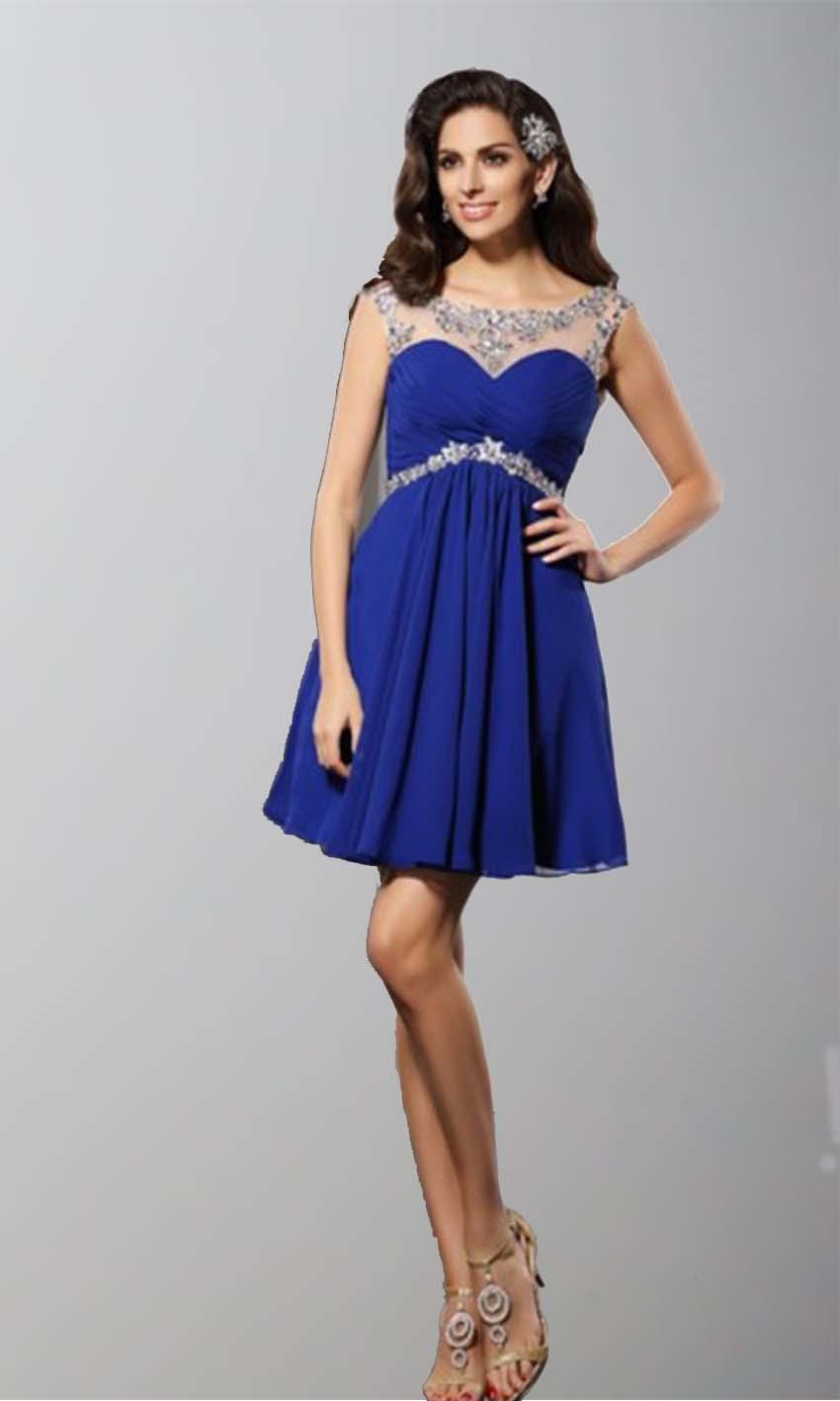 Blue Illusion Short Lace Prom Dresses UK KSP347 [KSP347] - £87.00 ...