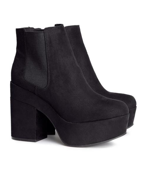 medium heels boots chelsea boots shoes platform shoes 90s style 90s style grunge shoes plateau