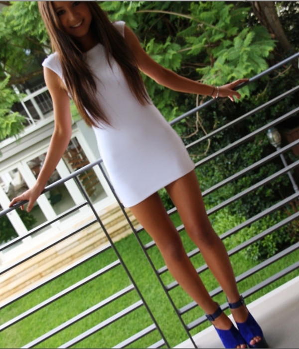 shoes cobalt white dress bodycon dress cap sleeve white tight short dress shoulder cute blue hipster high heels bodycon dress blue shoes shoes blue blue high heels short sleeve short short party dresses summer