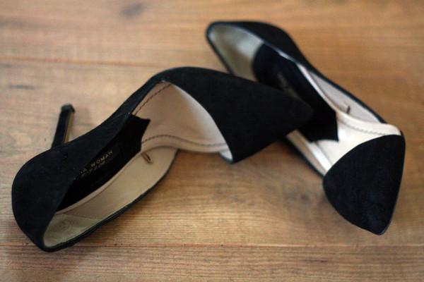 black shoes suede shoes