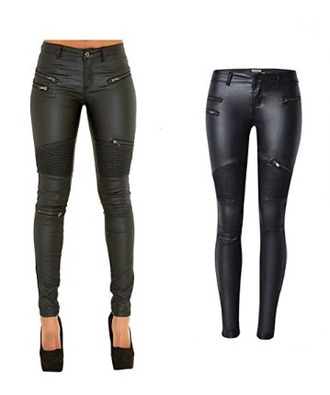 pants black leather leather pants skinny jeans punk rock biker goth sexy