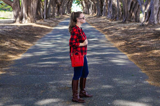 covering bases blogger flannel shirt riding boots