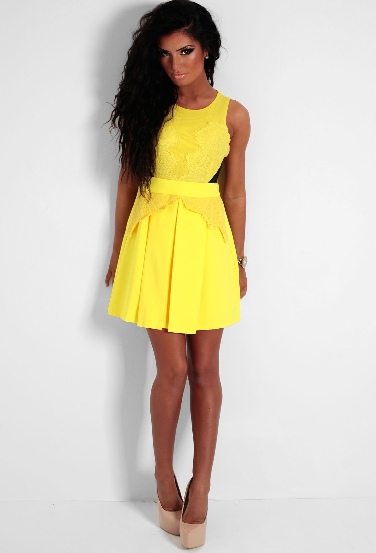 Women's Mustard Yellow Lace Trim Skater Dress $30 $ 15 + $ shipping From Missguided Price last checked 13 hours ago Product prices and availability are accurate as of the date/time indicated and are subject to truedfil3gz.gq: $