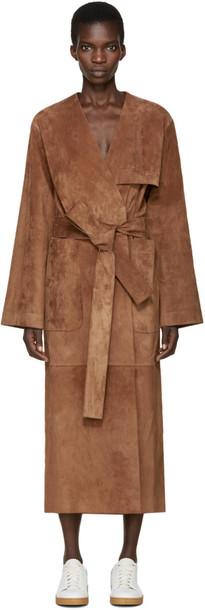 coat suede brown