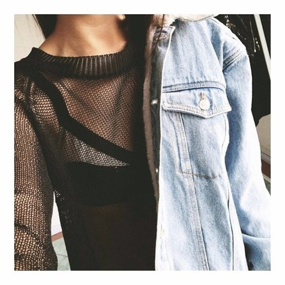 mesh see through sweater black sweatshirt net sweatshirt net mesh outerwear net outerwear jacket mesh sweatshirt mesh sweater outerwear