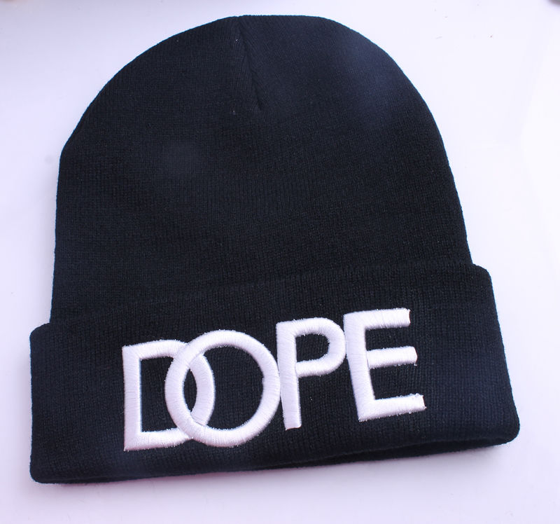 White and Black Men's Hip Hop Dope Beanie Autumn Winter Knit Cotton KNITTING1PCS | eBay