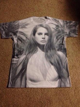 lana del rey t-shirt shirt summer outfits del grey paradise