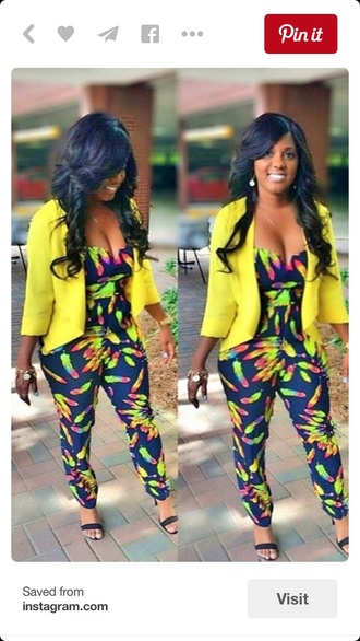 jumpsuit blazer style fashion bodysuit romper
