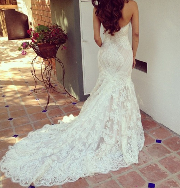 dress wedding dress maxi dress long dress white dress lace dress strapless dress dress dress