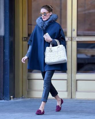 coat flats olivia palermo sunglasses shoes