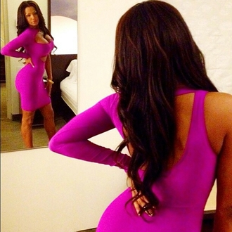 dress purple dress purple homecoming one shoulder long sleeve dress