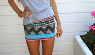 skirt neon skirt blue skirt orange skirt aztec skirt aztec skirt mini summer beach outdoors hot