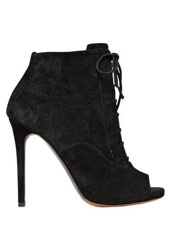 boots lace suede black shoes
