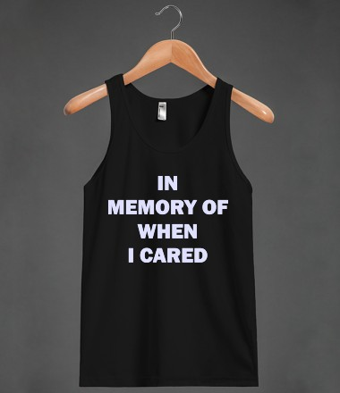 In memory of | Tank Top | Skreened