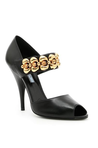 Prada embellished sandals shoes