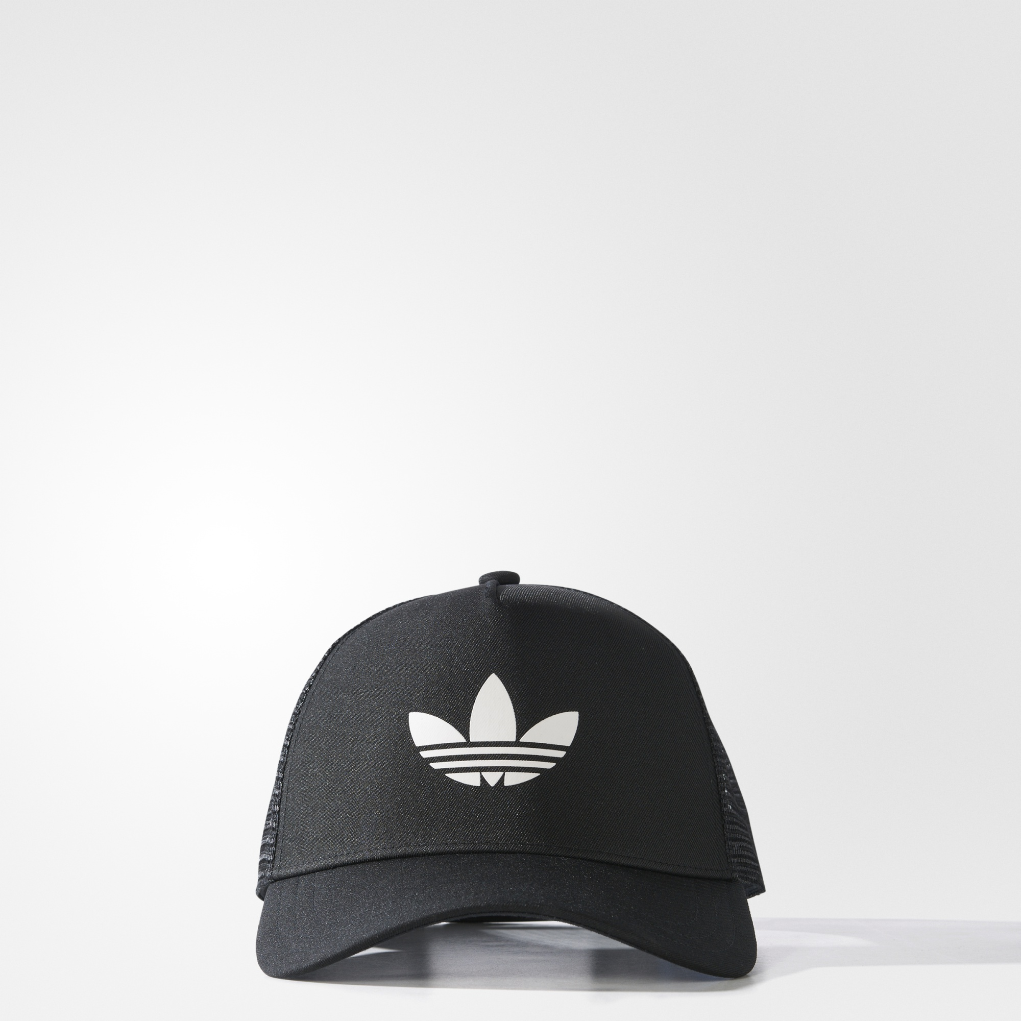 868416ab95040 adidas Trefoil Trucker Hat - Black