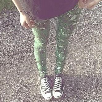 leggings tumblr grunge soft grunge green