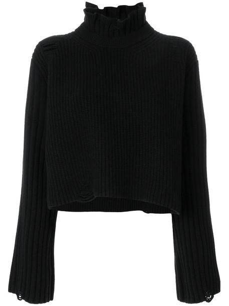 sweater high women high neck black