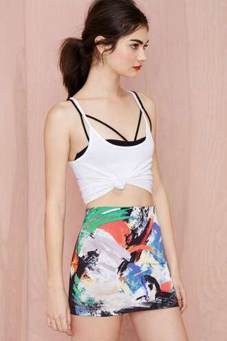 skirt nastygal nasty gal fall collection bodycon bodycon skirt abstract abstract print black dress bodycon dress tumblr tumblr outfit