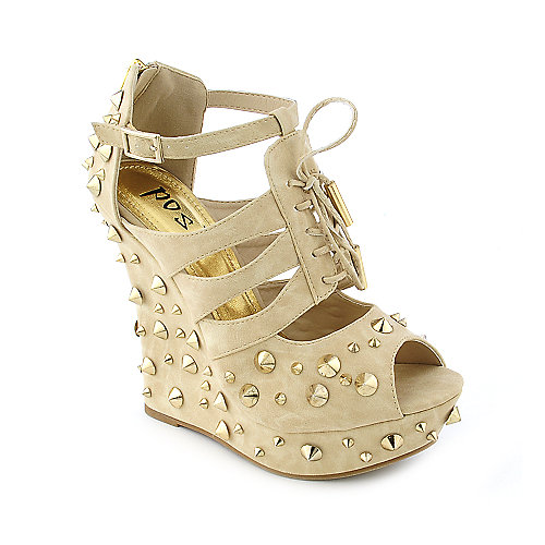 Posh Daria Womens dress platform wedge