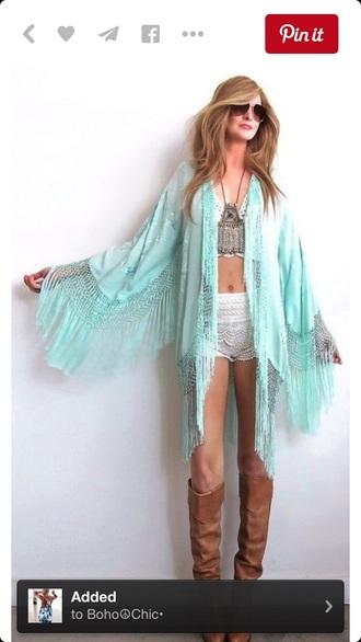 cardigan mint boho dress boho shirt bohemian lace top