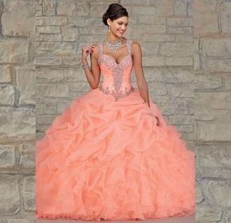 dress peach ball gown ball gown dress gown peach