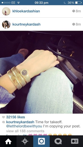 jewels kourtney kardashian gold watch