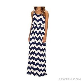 dress long dress sleeveless hip package stripes