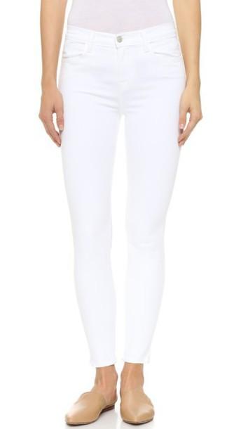 J BRAND jeans high blanc