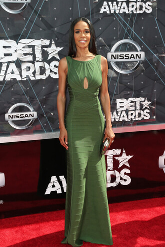 dress gown maxi dress michelle williams green dress prom dress bet awards