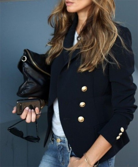 navy coat blazer women's blazer blue coat