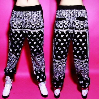 Free Shipping hip hop doodle print loose lovers sports casual pants-inPants & Capris from Apparel & Accessories on Aliexpress.com
