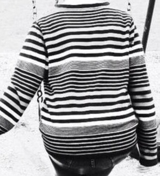 sweater black black and white white cute tumblr cute sweaters striped shirt striped sweater stripes tumblr shirt tumblr sweater